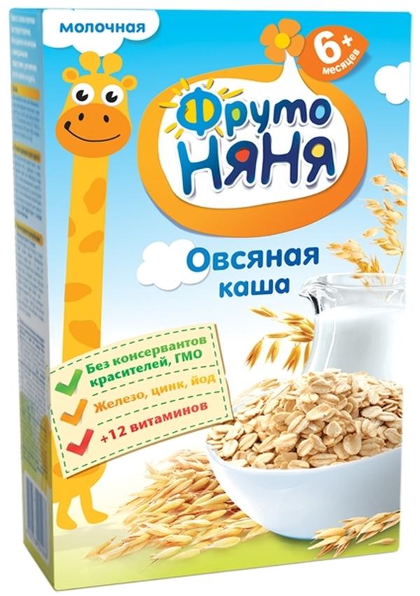 """""""ФрутоНяня"""" каша молочная """"Овсяная"""" 200,0 (с инулином, без соли)"""