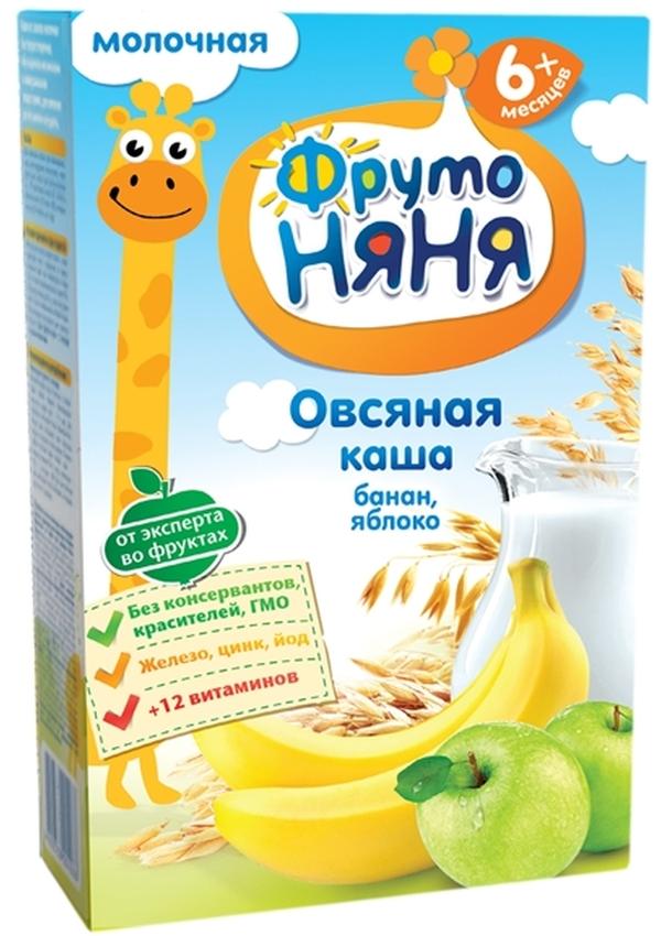 """""""ФрутоНяня"""" каша молочная """"Овсяная с бананом и яблоком"""" 200,0 (с инулином, без соли)"""