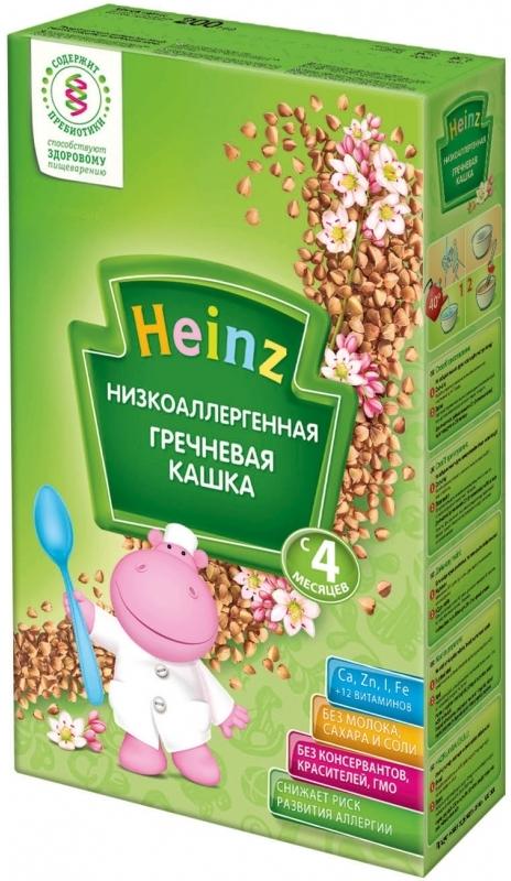 """""""Хайнц"""" каша """"Heinz"""" безмолочная """"Низкоаллергенная гречневая кашка (с пребиотиками)"""" 200,0"""