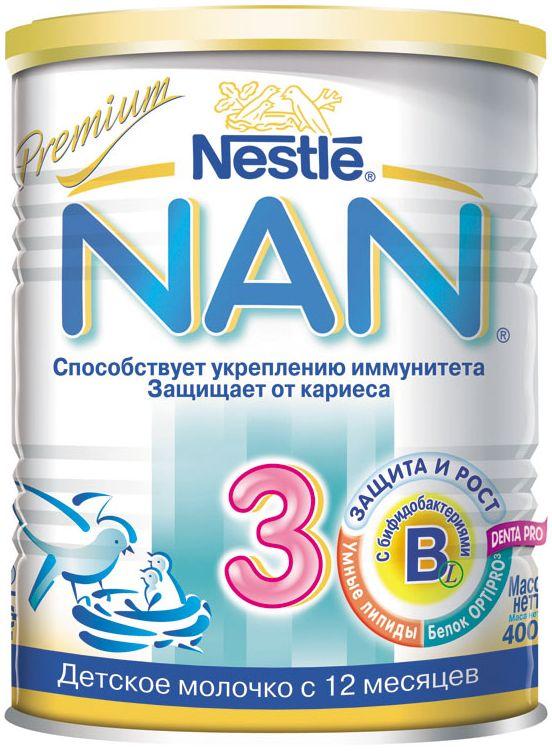 """Молочная смесь НАН """"NAN-3"""" 400,0 (напиток молочный """"Детское молочко"""")"""