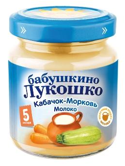 """Пюре """"Кабачок-Морковь с молоком"""" 100,0 """"Лукошко"""""""