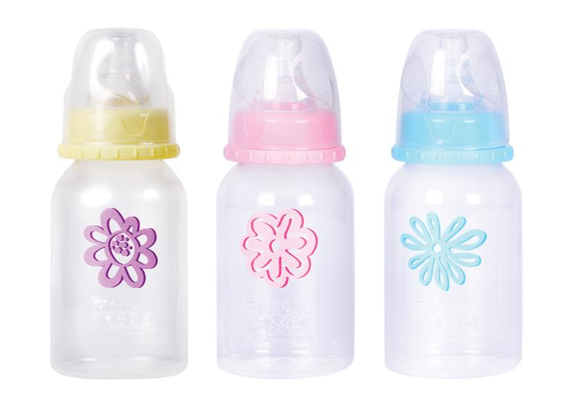 """Бутылочка пластиковая 140 мл с соской силиконовой с медленным потоком, 01810, """"ПОМА"""""""