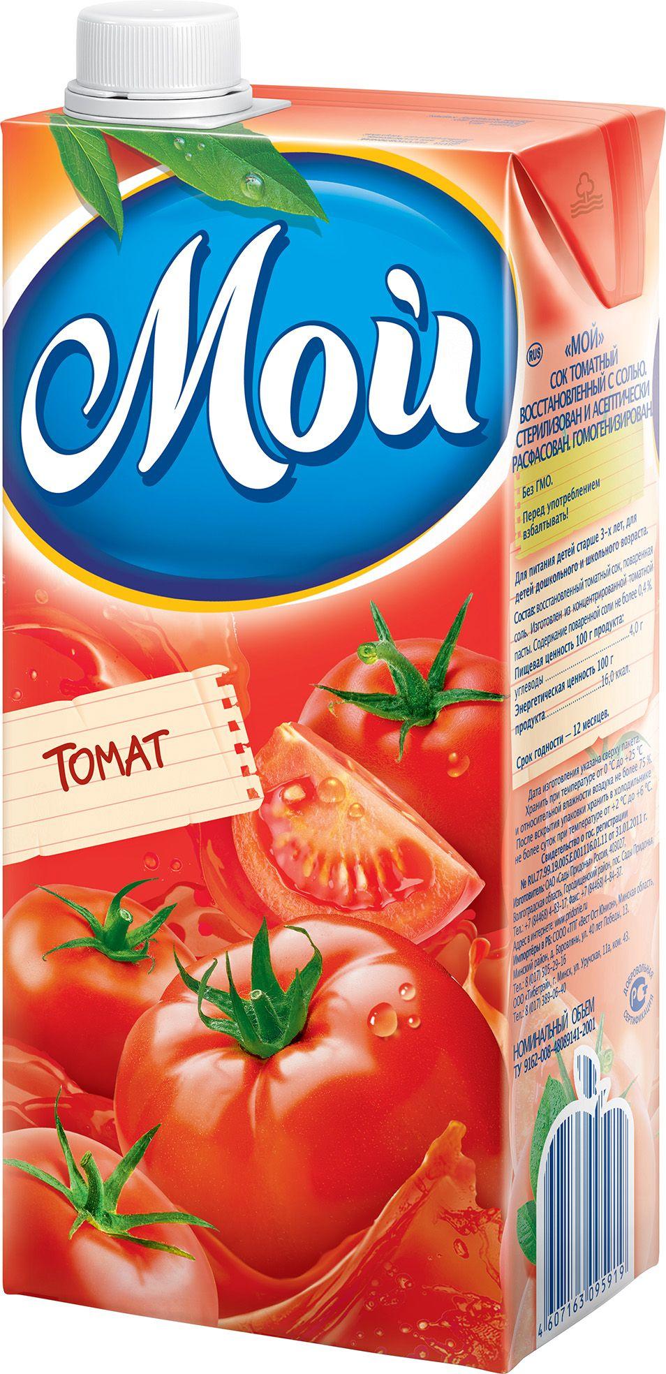 """Сок томатный 1000 мл """"Мой"""""""