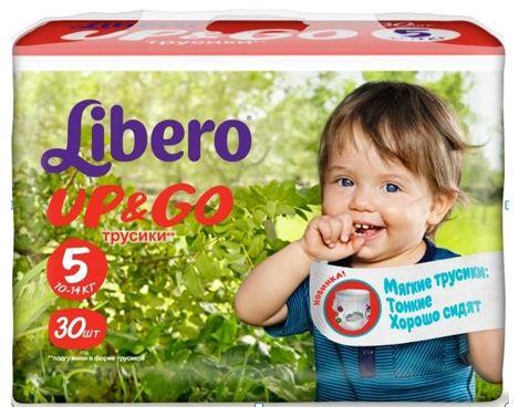"""Подгузники-трусики Либеро """"Libero Up & Go №5 (10-14 кг)"""" 30 штук в упак."""