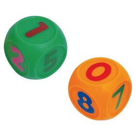 """Набор игрушек для ванны """"Кубики-считалки"""" (с пищалкой, 2 штуки), 01219, """"ПОМА"""""""
