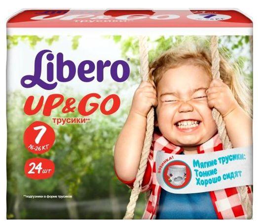 """Подгузники-трусики Либеро """"Libero Up & Go №7 (16-26 кг)"""" 24 штуки в упак."""
