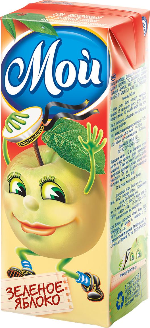 """Сок яблочный из зеленых яблок (осветленный, без сахара) 200 мл """"Мой"""""""