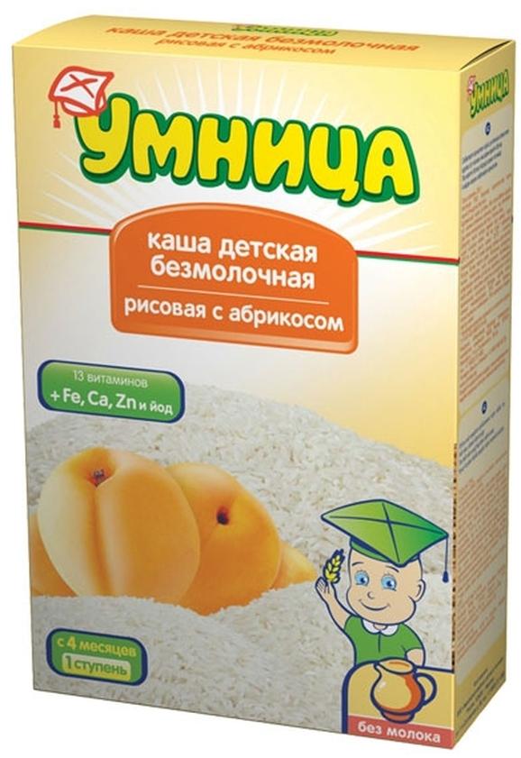 """""""Умница"""" каша безмолочная рисовая с абрикосом 250,0"""