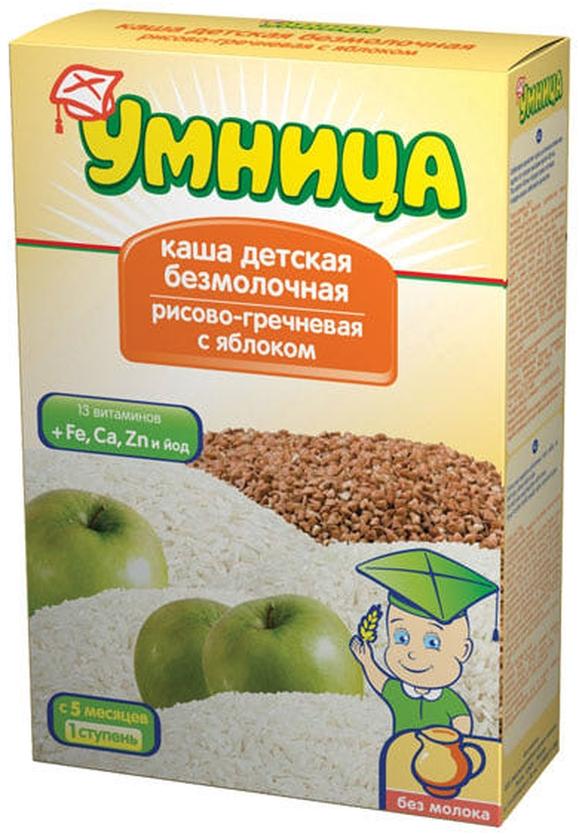 """""""Умница"""" каша безмолочная рисово-гречневая с яблоком 250,0"""