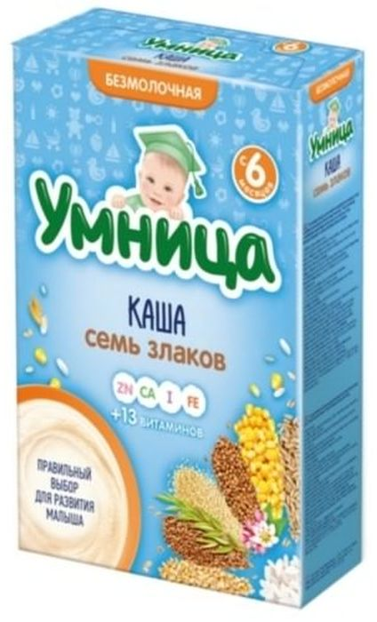 """""""Умница"""" каша безмолочная из 7-ми злаков 250,0"""