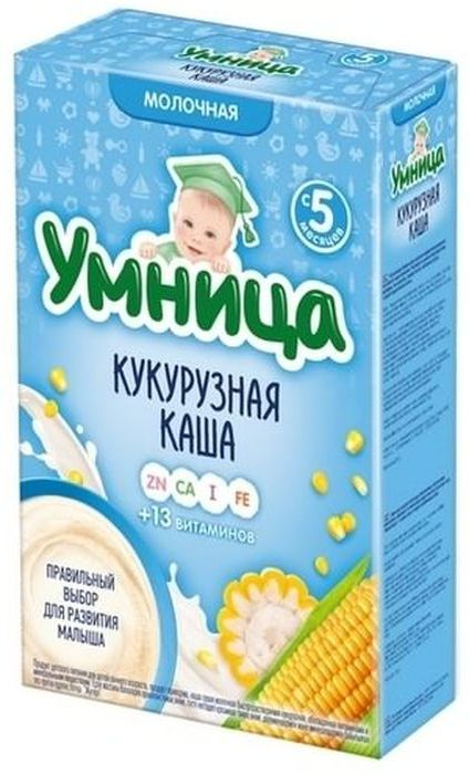 """""""Умница"""" каша молочная кукурузная 200,0"""