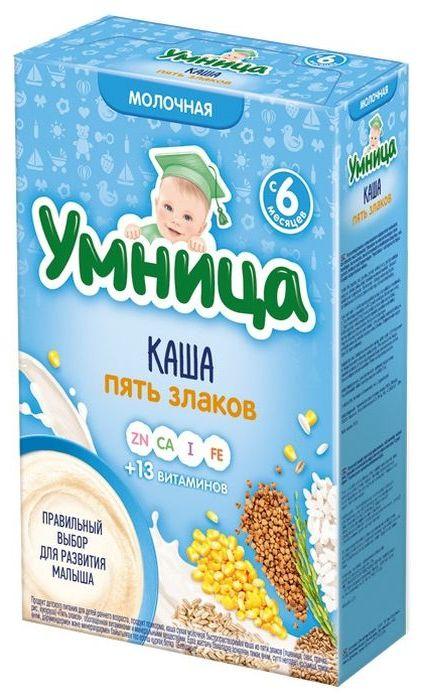 """""""Умница"""" каша молочная 5 злаков 200,0"""
