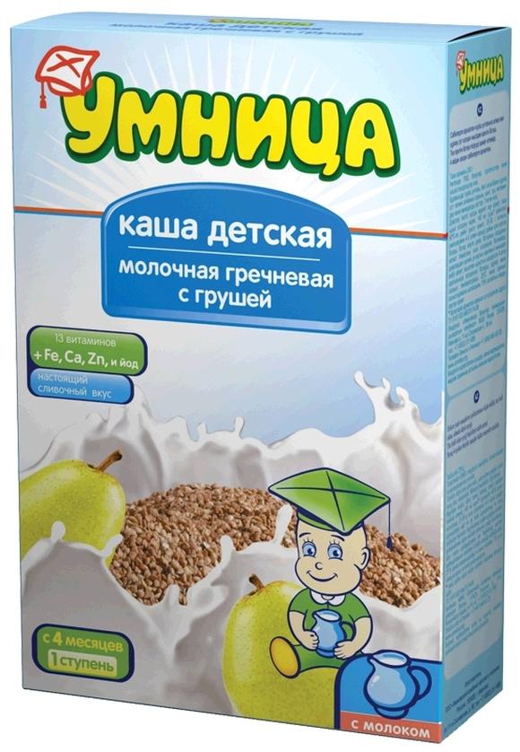 """""""Умница"""" каша молочная гречневая с грушей 200,0"""