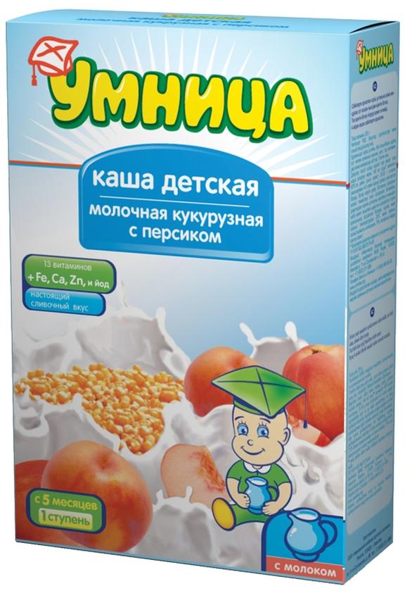 """""""Умница"""" каша молочная кукурузная с персиком 250,0"""