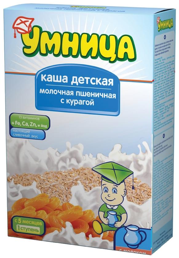 """""""Умница"""" каша молочная пшеничная с курагой 250,0"""