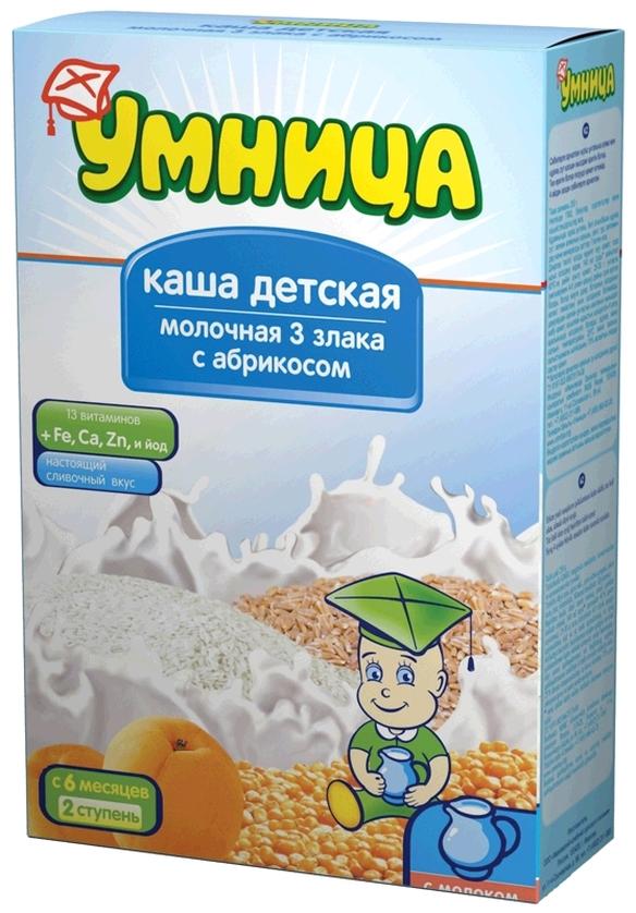 """Умница"" каша молочная 3 злака с абрикосом 200,0"