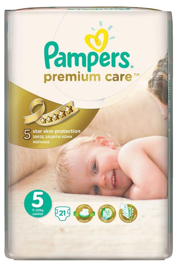 """Подгузники Памперс """"Pampers premium care №5 (11-25 кг)"""" 21 штука в упак."""