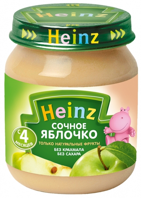 """Пюре """"Сочное яблочко (без сахара, с вит.С)"""" 120,0 """"Хайнц"""""""
