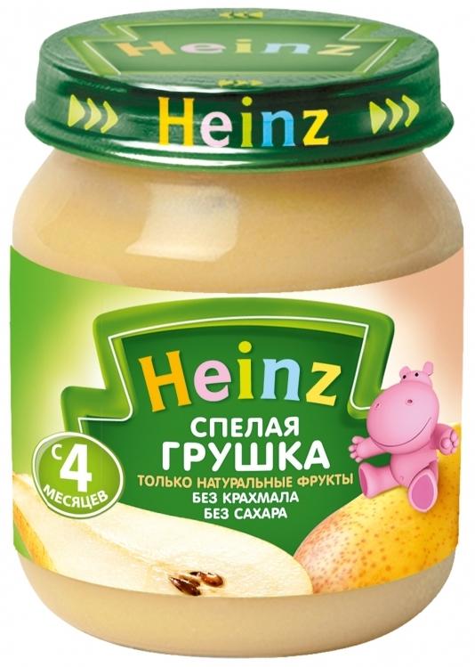 """Пюре """"Спелая грушка (без сахара, с вит.С)"""" 120,0 """"Хайнц"""""""