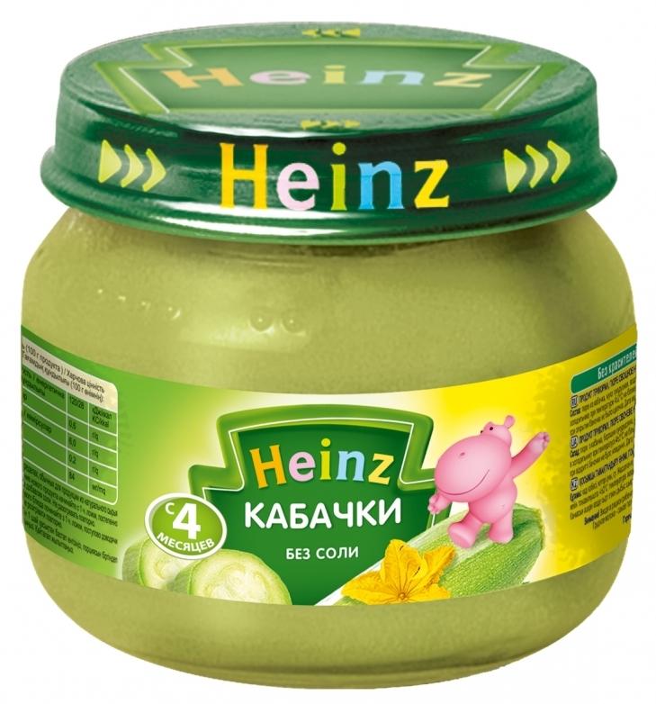 "Пюре ""Кабачки (без соли)"" 80,0 ""Хайнц"""