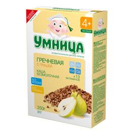 """""""Умница"""" каша безмолочная гречневая с грушей 250,0"""