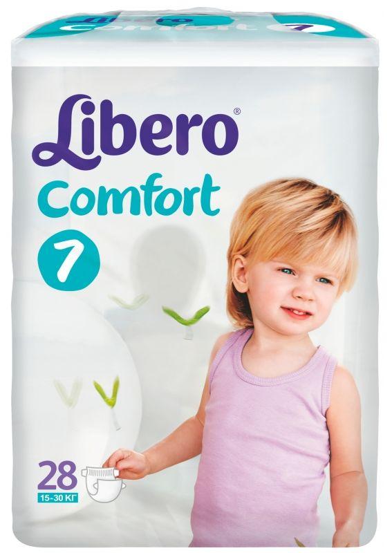 """Подгузники Либеро """"Libero Comfort №7 (15-30 кг)""""  28 штук в упак."""