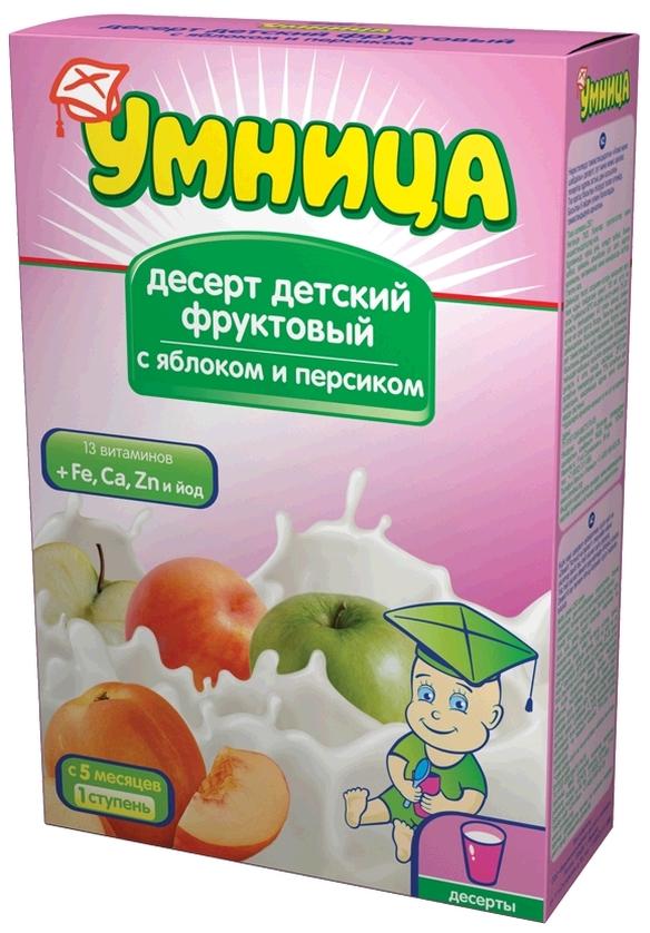 """""""Умница"""" десерт детский """"Фруктовый с яблоком и персиком"""" 250,0"""
