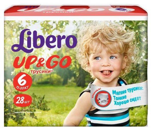 """Подгузники-трусики Либеро """"Libero Up & Go №6 (13-20 кг)"""" 28 штук в упак."""