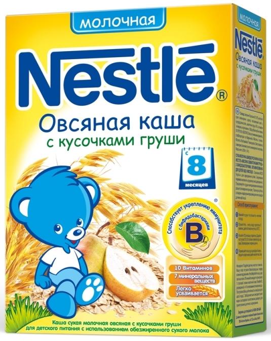 """Нестле"" каша молочная ""Овсяная с кусочками груши"" (с сахаром, с бифидобактериями) 250,0"