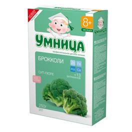 """""""Умница"""" суп-пюре детский овощной """"С брокколи"""" (без соли) 250,0"""