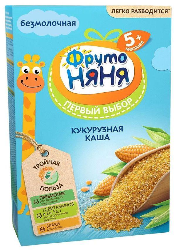 """""""ФрутоНяня"""" каша безмолочная кукурузная 180,0 (с инулином, без соли и сахара)"""