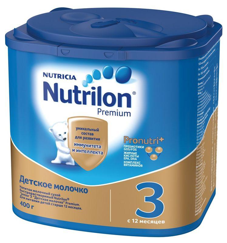 """Молочная смесь Нутрилон """"Nutrilon-3 Premium"""" 400,0 (напиток молочный """"Junior 3 Детское молочко"""")"""