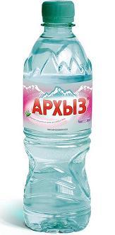 """Вода питьевая столовая """"Архыз"""" 0,5 л (н/газ)"""