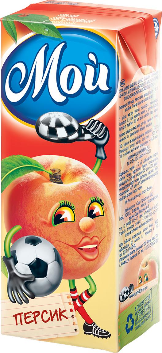 """Нектар персиковый с мякотью 200 мл """"Мой"""""""