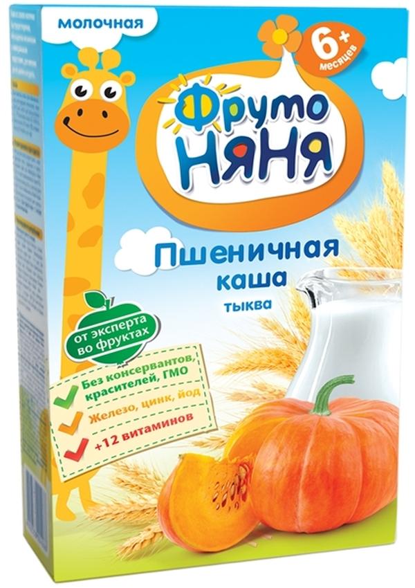 """""""ФрутоНяня"""" каша молочная """"Пшеничная с тыквой"""" 200,0 (с инулином, без соли)"""