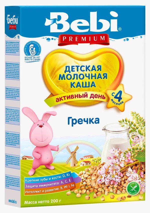 """Беби"" каша ""Bebi Premium"" молочная ""Гречка"" 200,0"