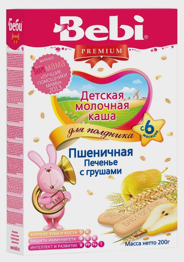 """""""Беби"""" каша """"Bebi Premium"""" молочная для полдника пшеничная """"Печенье с грушами"""" 200,0"""