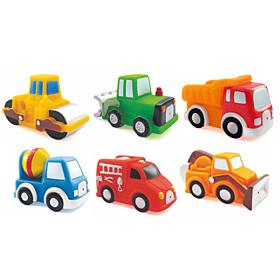 """Набор игрушек для ванны """"Дорожные работы"""" (3 штуки), 08819, """"ПОМА"""""""