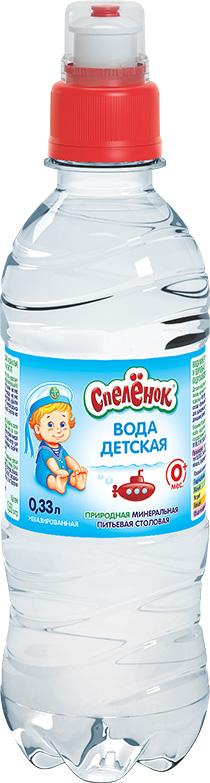 """Вода детская питьевая """"Спеленок (Горная вершина для детей и взрослых)"""" 0,33 л"""