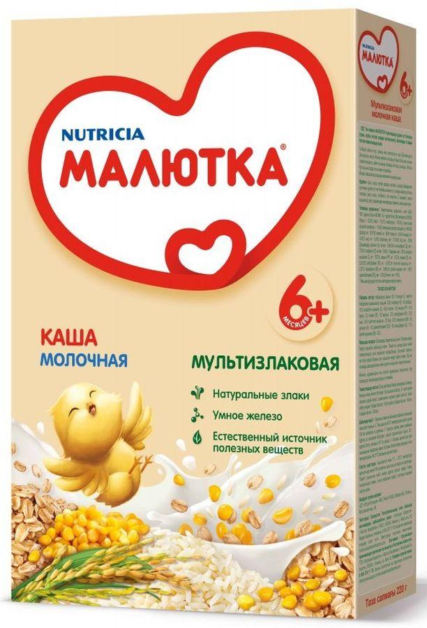 """""""Малютка""""  каша молочная мультизлаковая 220,0 (без соли, на основе детской молочной смеси)"""
