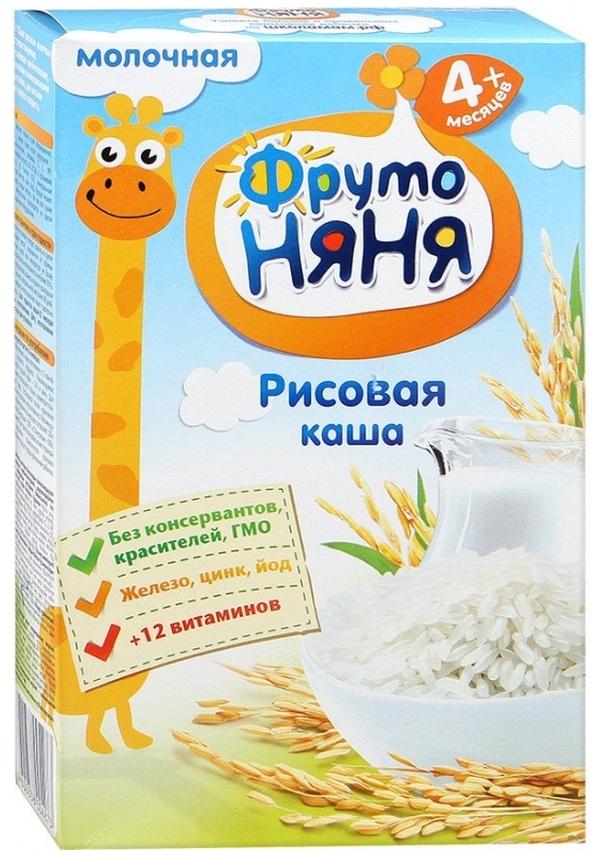 """""""ФрутоНяня"""" каша молочная """"Рисовая"""" 200,0 (с инулином, без соли)"""