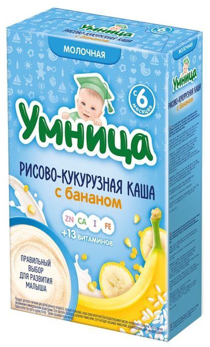 """Умница"" каша молочная рисово-кукурузная с бананом 200,0"