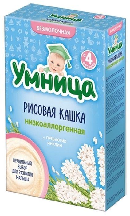 """""""Умница"""" каша безмолочная низкоаллергенная рисовая (без сахара, с инулином) 200,0"""