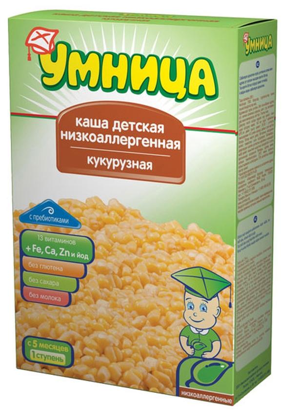 """Умница"" каша безмолочная низкоаллергенная кукурузная (без сахара, с инулином) 250,0"