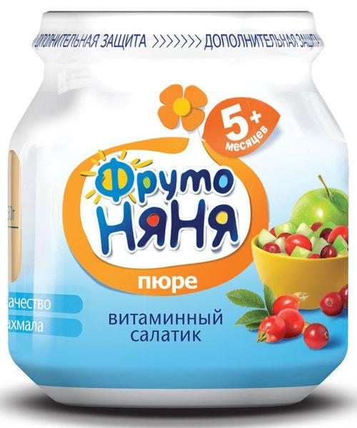 """Пюре """"Витаминный салатик (из яблок, шиповника и клюквы, с вит.С)"""" 100,0 """"ФрутоНяня"""""""