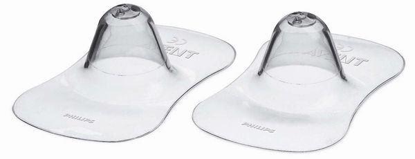 """Защитные накладки на сосок (2 штуки в упак., размер стандартный, для кормления), SCF156/01, """"AVENT"""""""