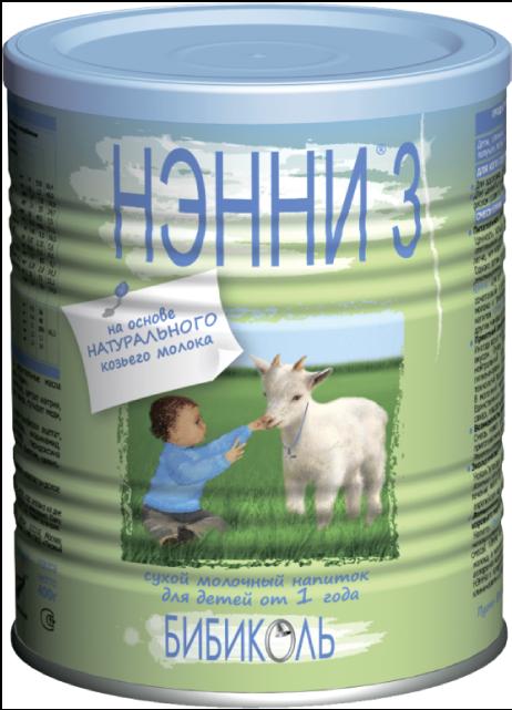 """Молочная смесь """"НЭННИ-3"""" (на основе козьего молока) 400,0"""
