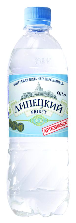 """Вода питьевая столовая """"Липецкий бювет"""" 0,5 л (н/газ)"""