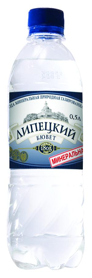 """Вода лечебно-столовая """"Липецкий бювет"""" 0,5 л"""