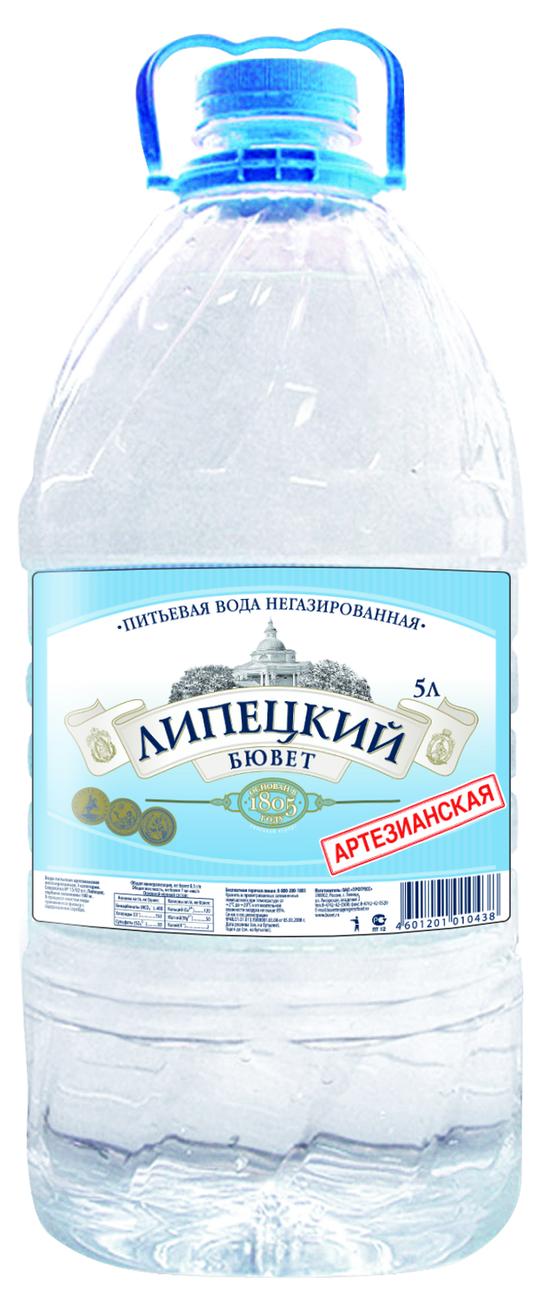 """Вода питьевая столовая """"Липецкий бювет"""" 5 л (н/газ)"""